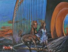 NELL'ALTA SELVA FIERA TANTO GIRO', Acrylic on canvas, cm80x100 2015