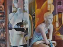 Vetrine, Acrylic on canvas, cm60x80, 2018