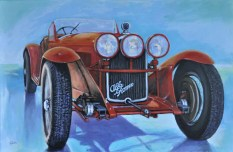 ALFA ROMEO 8C 2300 SC -1932, Acrylic on canvas, Cm. 80x120, 2018