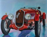 FIAT 508 BALILLA SPORT -1934, Acrylic on canvas, Cm. 80x100, 2018