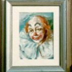 CLOWN 2p, Oil on cardboard, cm 24×18, 1976 ■