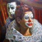 LA COPPIA, Oil on canvas, cm 50×35, 1989 ■