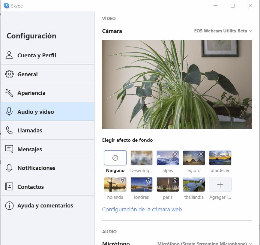 canon eos utility webcam skype