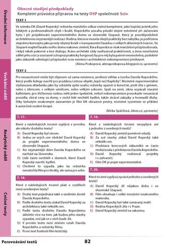 Scio testy OSP: krátké texty z učebnice