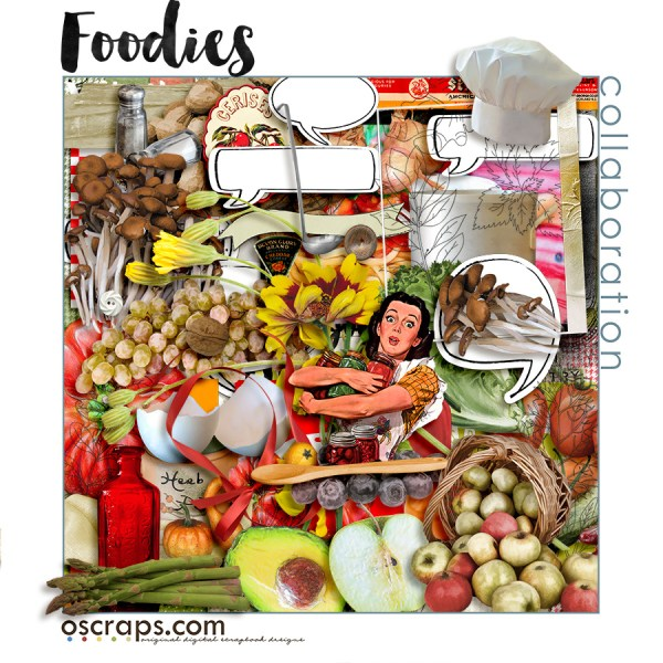 Foodies collab kit by Oscraps' designers