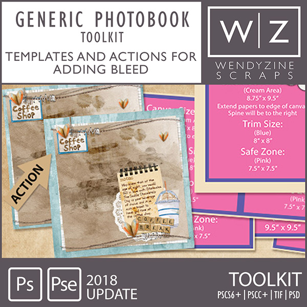 Generic Photobook toolkit by Wendyzine Scraps