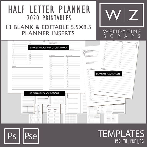 planners by Wendyzine Scraps