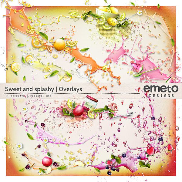 sweet and splashy overlays by emeto designs
