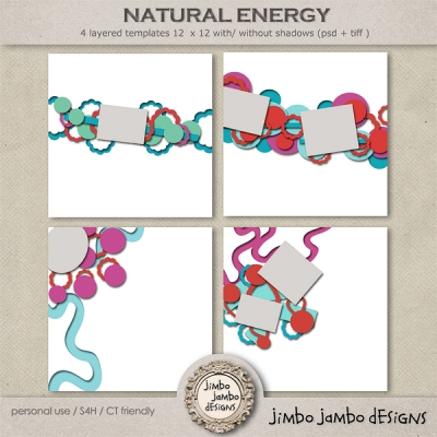 Natural Energy from Jimbo Jambo Designs