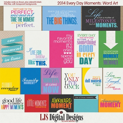 2014 Every Day Moments Word Art