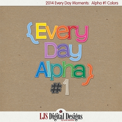 2014 Every Day Alpha from LJS Digital Designs