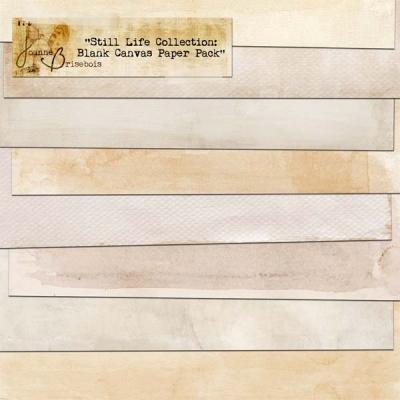 Joanne Brisebois - Blank Canvas Paper Pack