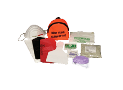 Body Fluid Spill-Clean-up Kit in Nylon Pouch