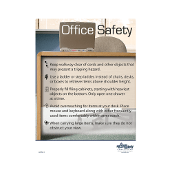 Office Safety Informational Safety Poster
