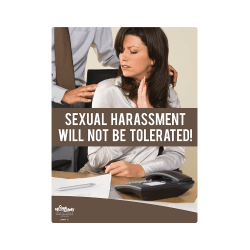 Sexual Harassment, Not Tolerated Safety Poster