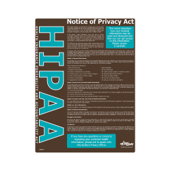 HIPAA Notice of Privacy Act Safety Poster