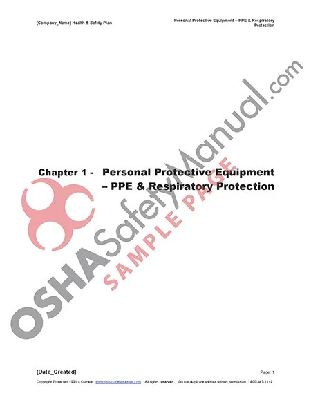 16 – Personal Protective Equipment
