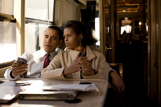 President Obama and his Wife