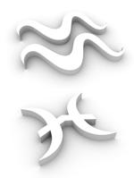 Aquarius - Pisces symbol