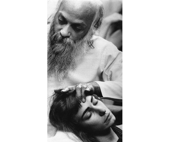 Sarita receiving energy darshan