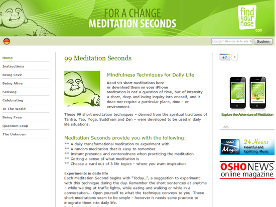 meditation seconds screen shot