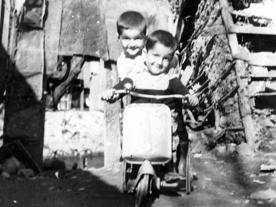 Rama and Raghu on the bicycle
