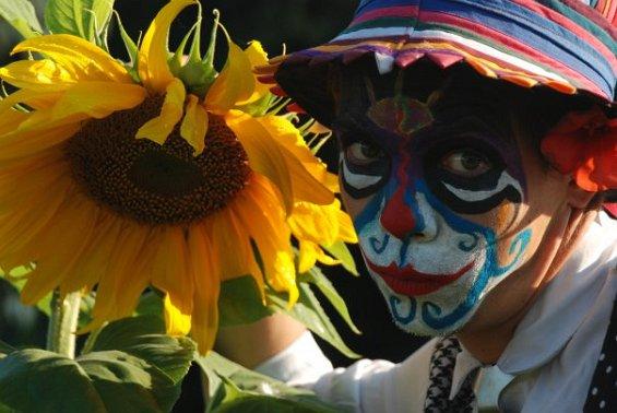 Hoku with sun flower
