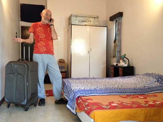 Subhuti packing up