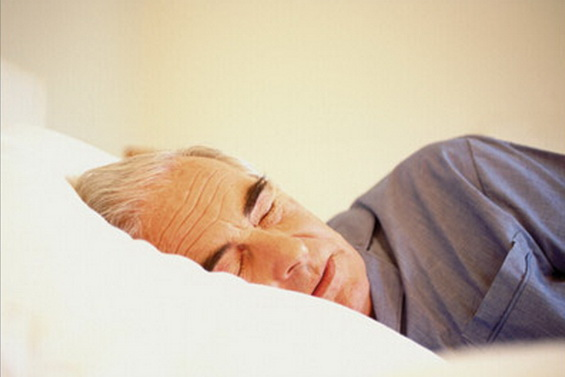 Older man sleeping