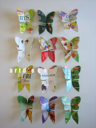 Butterflies-from-food-packaging