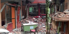 Earthquake in Nepal also affected Osho Tapoban