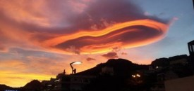 Fiery Lenticular Clouds