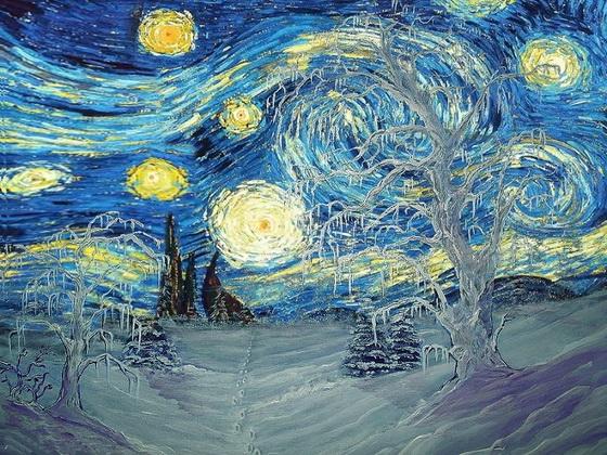 starry-night-in-winter-by-van-gogh