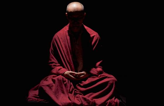 Monk meditating