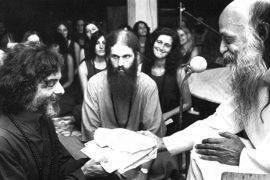 receiving a present from Osho