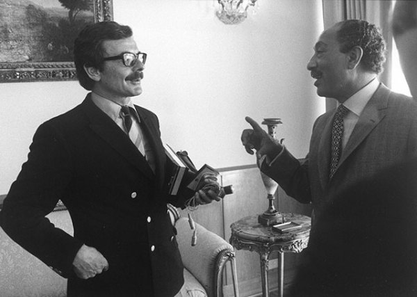 with Anwar Sadat, President of Egypt