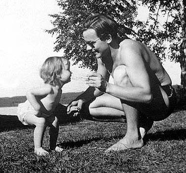 with his first daughter, Avinasho
