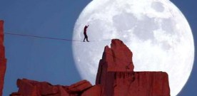 Baal Shem's parable: two men on a tightrope