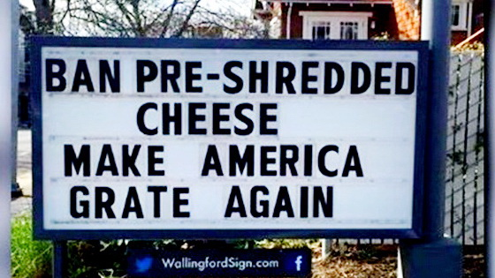 Pre shredded cheese