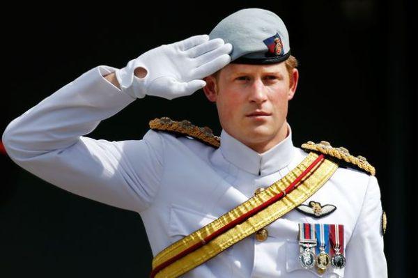 harry a salute