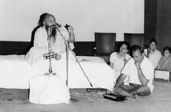 Osho giving a talk