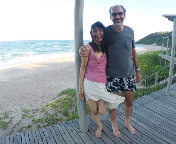 With Svagito on a beach in South Africa