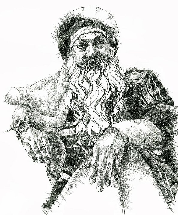 Drawing of Osho by Arhat 1