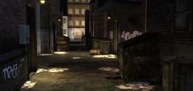 In the alleyway