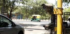 Delhi traffic lights camera