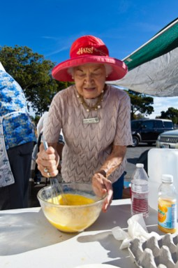 Norma Lamascus with the Women's Club of Oceanside