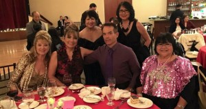Pam Pahnke, Debbie Nicastro, Quintin Tennant, Zucette Lumabas, Standing left to right are; Gloria Ash, Thelma Pantig. Debbie Nicastro was the co-host and a guest singer