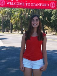 Noa Glaser  a 2014 scholarship winner attends Stanford