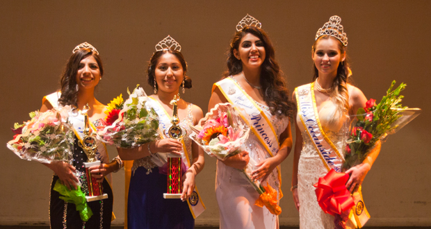 (L-R)Third runner-up, Iris Pena,  second runner-up, Teresa Gaspar,  first runner-up  Jacqueline Montano and the new Miss Oceanside,  Kylea McKenzie