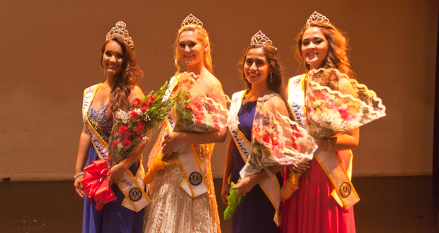 Jacinda Rios is joined in her court by; Lauren Bell, first runner-up, Kristalina Banuelos, second runner-up and Kayla Englehardt, third runner-up